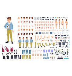 little boy character constructor male child vector image