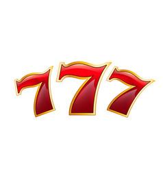 Lucky seven casino poker jackpot icon vector