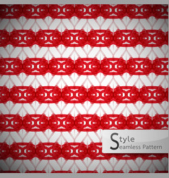 Mesh rope red ribbon geometric seamless pattern vector