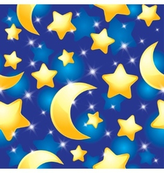 night pattern vector image vector image