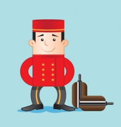 porter with luggage vector image