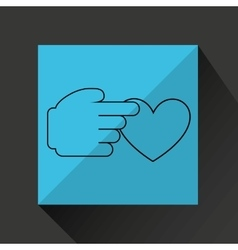 protection love design vector image