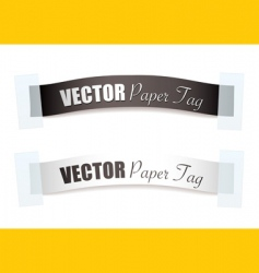 ribbon tags vector image vector image