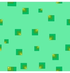 Square green seamless pattern vector image