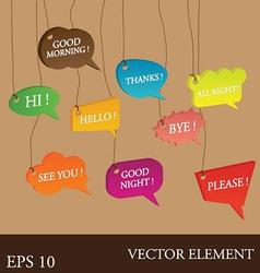 Talking English Bubbles Speech Idea vector image vector image