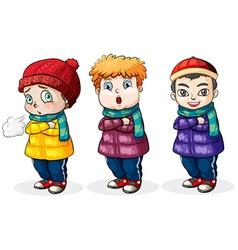 Three little boys vector