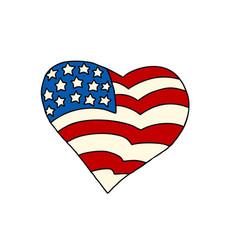 usa heart patriotic symbol vector image