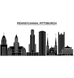 Usa pennsylvania pittsburgh architecture vector