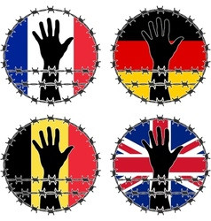 Violation of human rights in european countries vector