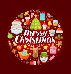 Xmas concept merry christmas greeting card or vector