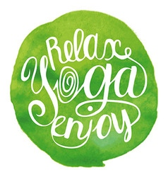 Yoga green vector