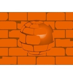 House brick ball vector