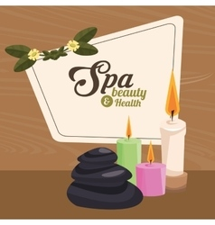 Spa beauty and health treatment care serenity vector