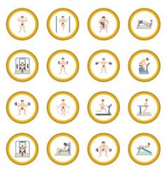 Gym icon circle vector