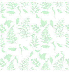 Forest grassy seamless pattern vector
