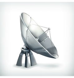 Parabolic antenna icon vector