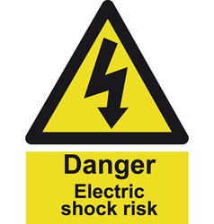 Danger Electrocution Risk Safety Sign vector image