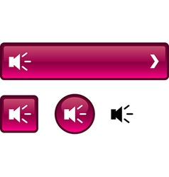 Sound button set vector