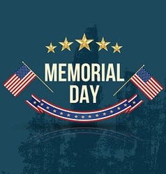 Happy memorial day with texture vector