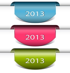 Colorful arrows stickers 2013 vector