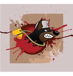 Doberman grunge styled print vector image