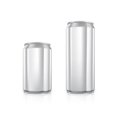Set of blank aluminium cans vector