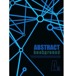 Abstract connection background vector