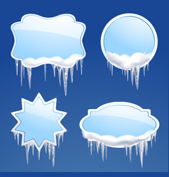 Icicle frames set vector