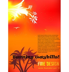 Floral fire design vector