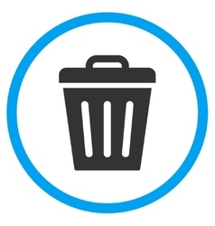 Rubbish basket icon vector