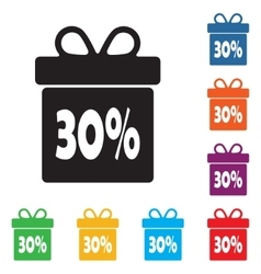 Box discounts gift box buyer vector