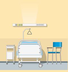 a sickroom vector image