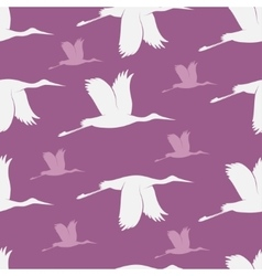 Baby shower stork pattern vector image