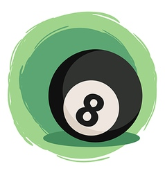 Billiard ball number 8 black vector