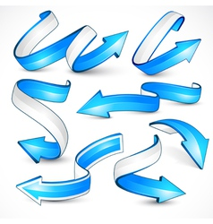 blue arrows vector image