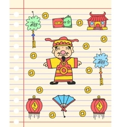 Collection stock of chinese theme greeting card vector