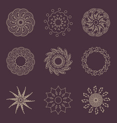 decorative design elements patterns set vector image