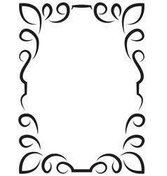 elegant framework for design vector image vector image