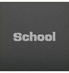 Empty realistic black board in format vector image vector image