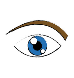 eye human watch look vision icon vector image vector image