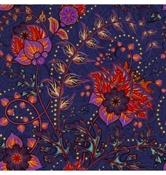 Fantasy flowers seamless paisley pattern Floral vector image