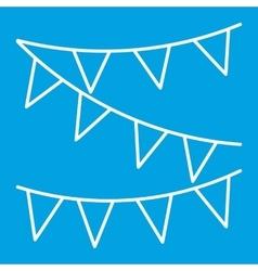 Festive ribbon thin line icon vector