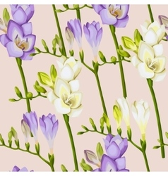 Freesia twigs seamless background vector