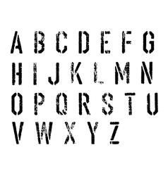 Grunge stencil alphabet set vector image vector image