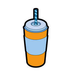 Hot drink container vector