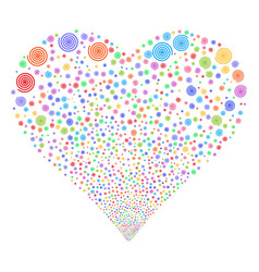 Hypnosis fireworks heart vector