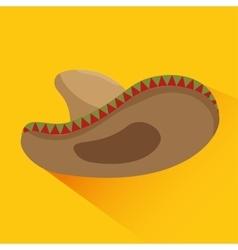 icon hat mexican culture design vector image vector image