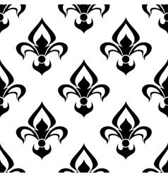 Modern fleur de lys background seamless pattern vector