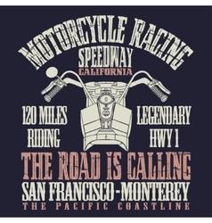 Motorcycle Racing Typography vector image vector image