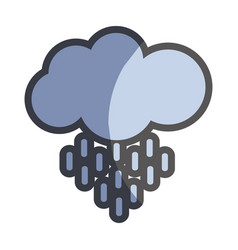 Nice cloud and rain weather icon vector